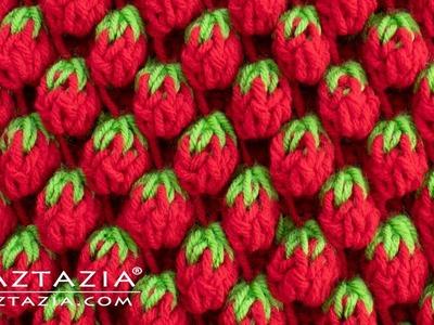 How to Crochet the Strawberry Stitch - Tunisian Crochet by Naztazia
