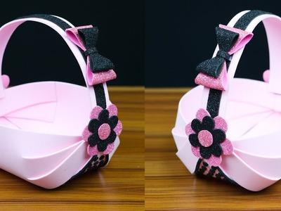 How to make a beautiful basket with foam sheet | Foam sheet craft ideas