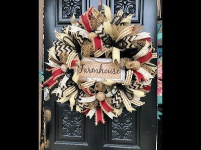 How to make a Farmhouse Wreath