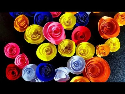 How to make colorfull  Flowers very simple n easy|paper craft|DIY