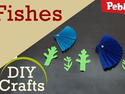 How to make Fishes with Paper Craft | DIY Crafts for kids | in English
