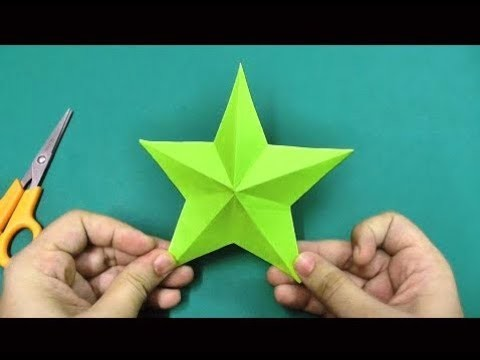 "✔""How to make"" Origami pepar star hand craft ➤Reporter Tube Media"