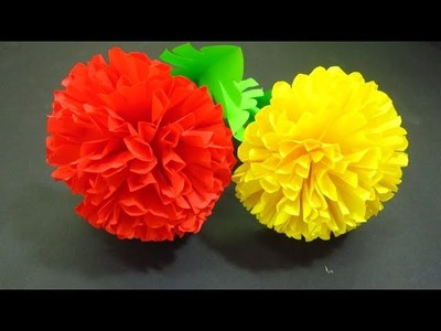 How to Make Paper Flowers #54, DIY PAPER, decoration craft interior, crepe paper,origami flowers