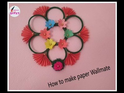 How to make paper wallmate ।। Full video ।। SOVA's CRAFT and ART