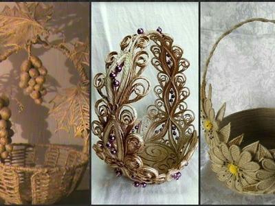 Jute Craft Basket Decoration Idea's.