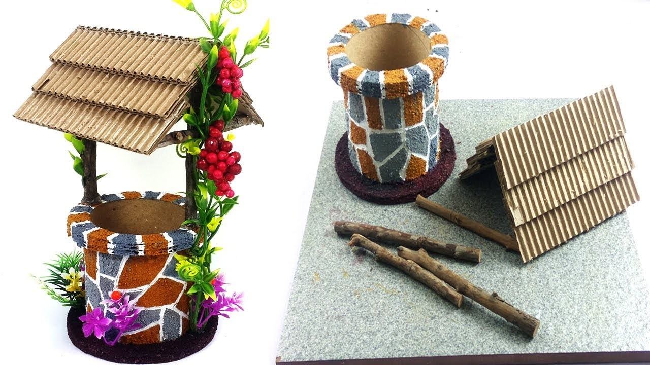 New! Best Out of Waste DIY Home Decoration Craft - DIY Well Making Craft - Craft Ideas