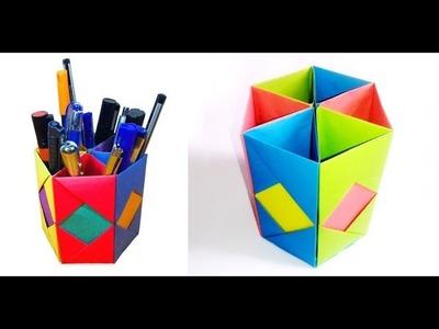 "✔""Origami"" Pen Box Nice Idea Hand craft ➤Reporter Tube Media"
