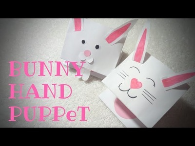 Paper bunny hand puppet????????.craft for Kids