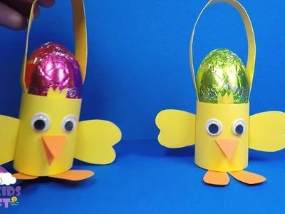 Paper Chick Easter Egg Basket | Paper Craft for Kids