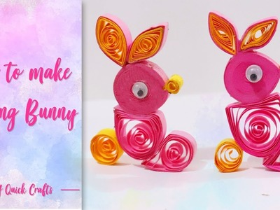 Quilling bunny for kids | Rabbit Craft for Kids | for Easter day decoration