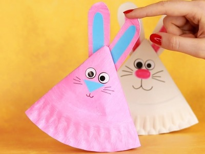Rocking Paper Plate Bunny Craft - Easter Crafts for Kids