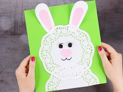 SIMPLE DOILY BUNNY CRAFT - Easter Craft Idea for Kids