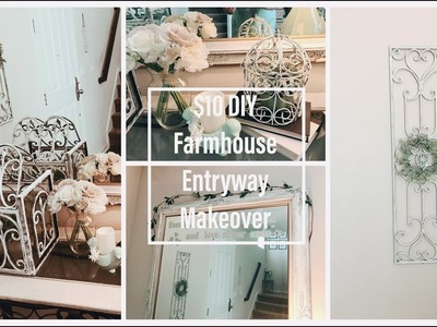 Thrift Store Finds Trash to Treasure DIY Farmhouse Entryway Makeover (Easy $10)