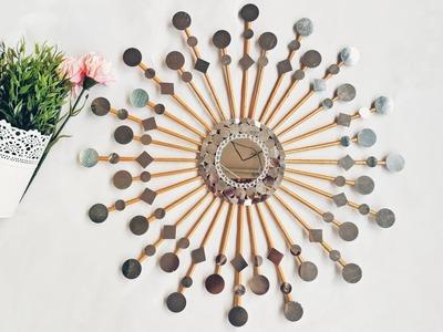 Wall Decor using Newspaper | DIY Glam Mirror Decor | Vinni's Craft Ideas #WallDecor
