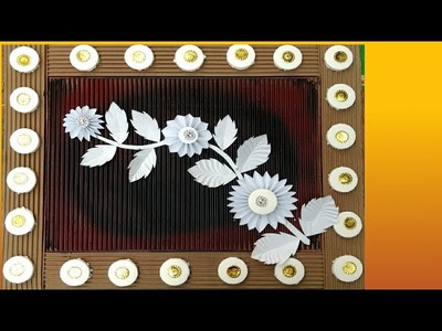 Wall hanging paper craft.  Craft for room decoration.  Tarun Art.