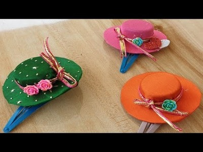Waste Bottle Beautiful Craft Ideas, \ hairclips \Hand Made hair Clips