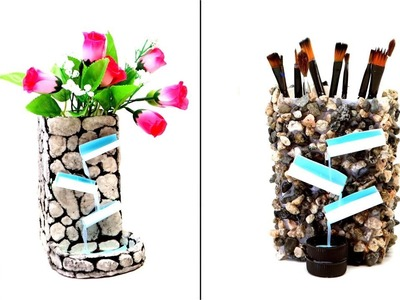 Waterfall Vase and Pencil Holder 3 in 1 Art and Craft DIY