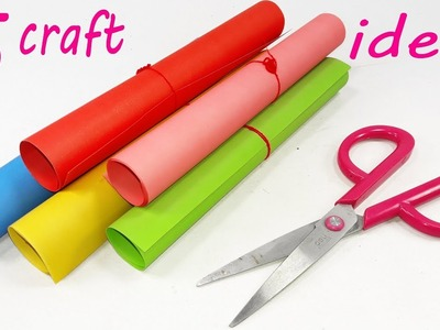 5 Awesome Craft Ideas With Colour paper | Ideas with Paper | Paper art and crafts