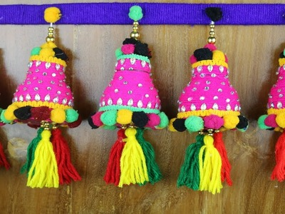 Amazing! Door Hanging Toran -  DIY Woolen Craft idea | Woolen Wall Hanging Design - Best reuse ideas