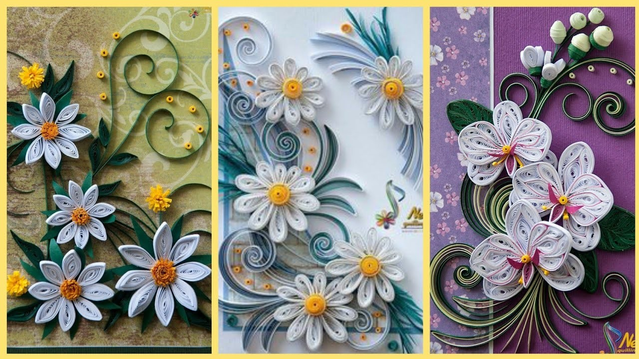 Amazing Quilling Paper Flower Ideas    Paper Flower    Qyilling Art & Craft