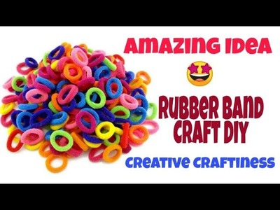 Amazing Rubber Band Craft Idea | Best out of waste Craft Idea | Beautiful Wall Decor DIY