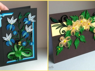 Beautiful Handmade Quilling Flowers Cards || Paper Flowers || Diy Paper Craft