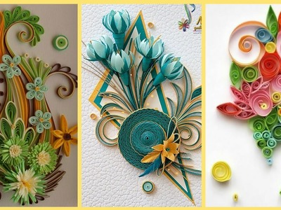 Beautiful Paper Flowers Ideas || Quilling Craft || Quilling Paper Flowers