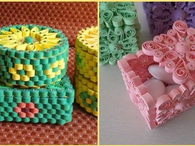 Beautiful Paper Quilling Boxes    Quilling Craft Ideas    Quilling Paper Flowers    Diy Flowers
