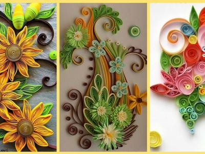 Beautiful Quilling Paper Flowers    Paper Craft    Paper Flowers    Quilling Craft ideas