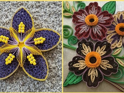 Creative Quilling Paper Craft Ideas || Paper Flowers || Quilling Art
