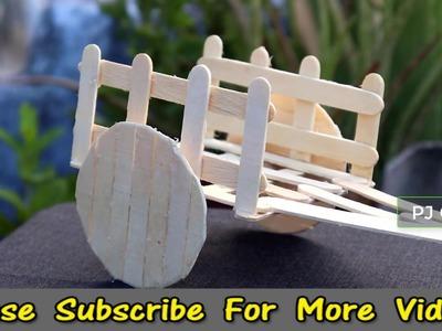 DIY CRAFT | Make Bullock Cart | Pop Stick Craft | PJ Craft