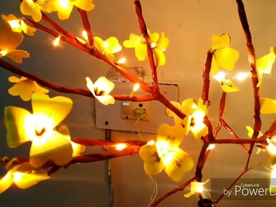 DIY Lighting Tree| Waste Materials Craft| Easy Craft| Art and Craft| Recycled Craft| DIY Home Decor