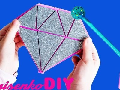 EASY CRAFT HOW TO MAKE KAWAII DIAMOND NOTEBOOK