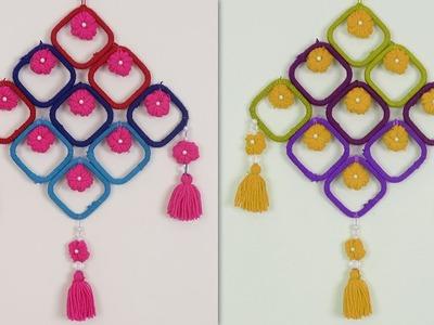 Easy DIY Woolen Wall Hanging Handmade Craft Idea | DIY Room Decor !!!