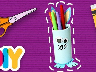 Fast-n-Easy | BUNNY Pencil Case ???? Paper Roll Craft  | DIY Arts & Crafts for Kids