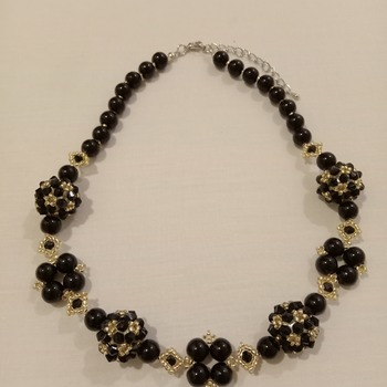 Handmade Golden Black Necklace