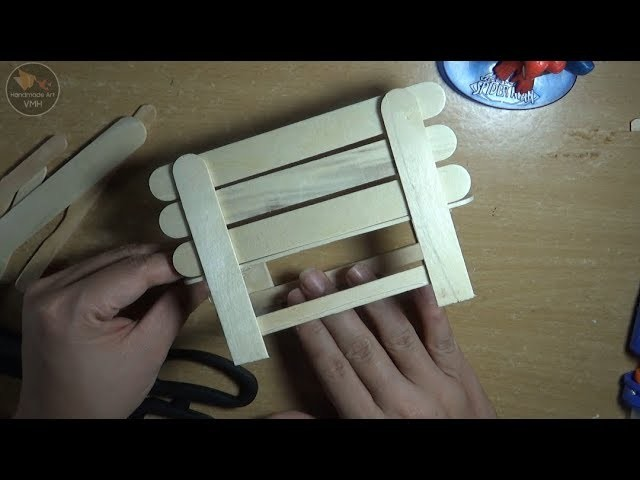 How To Make Chair With Ice Cream Stick - DIY - Easy Craft