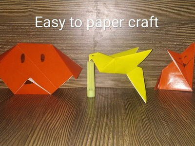 || How to make paper craft || easy to paper dog || paper fox || paper bird ||
