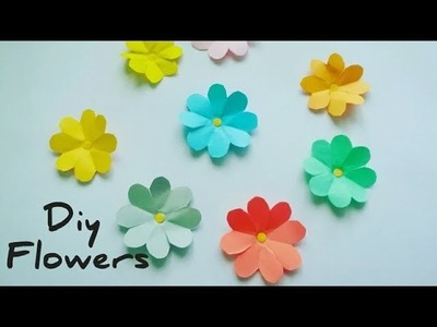How to make simple & easy paper flower| Paper Cutting Craft Videos & Tutorials|  DIY Paper Flowers