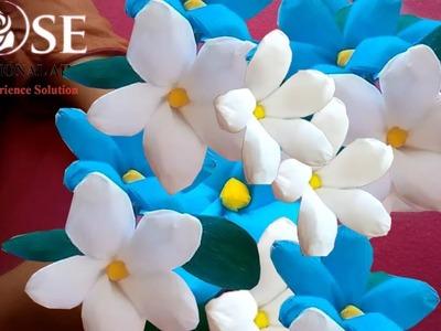 Paper crafts, പേപ്പർ ക്രാഫ്റ്റ്, paper craft work, crepe paper flowers, crepe paper flower making, f