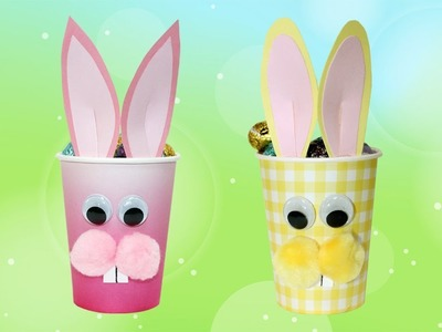 Paper Cup Easter Bunny Craft