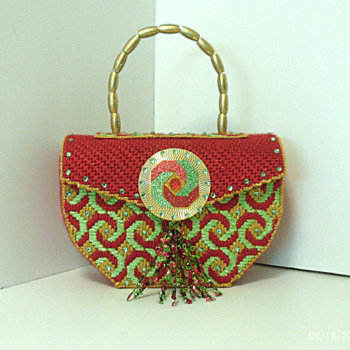 Red,Green and Gold Handbag