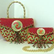 Red,Green and Gold Handbag