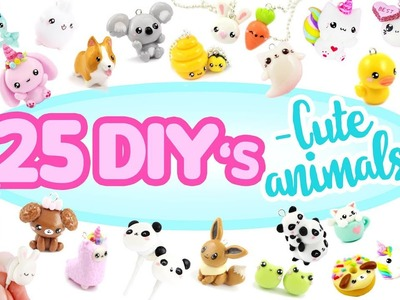 25 -Animal themed- DIY's! - BIG Polymer Clay Compilation!