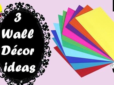 3 wall decor ideas with paper | easy 5 minute decor ideas | diy room decor 2019 easy |