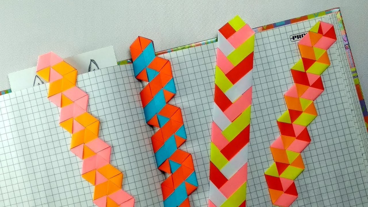 4 DIY Braided Paper Bookmarks ideas – Tutorial for Book and Cat Lovers