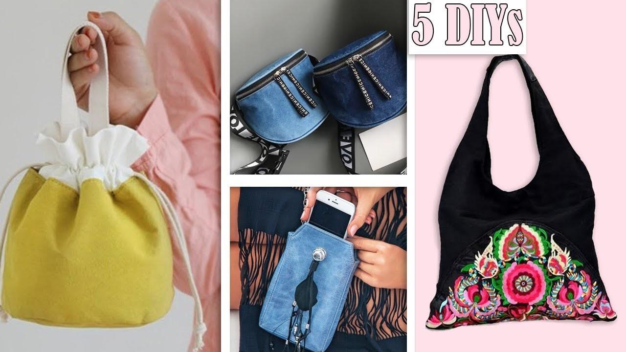 5 EPIC DIY BAG IDES $1 USD SPENDING. Cute Purse Bag Tutorial