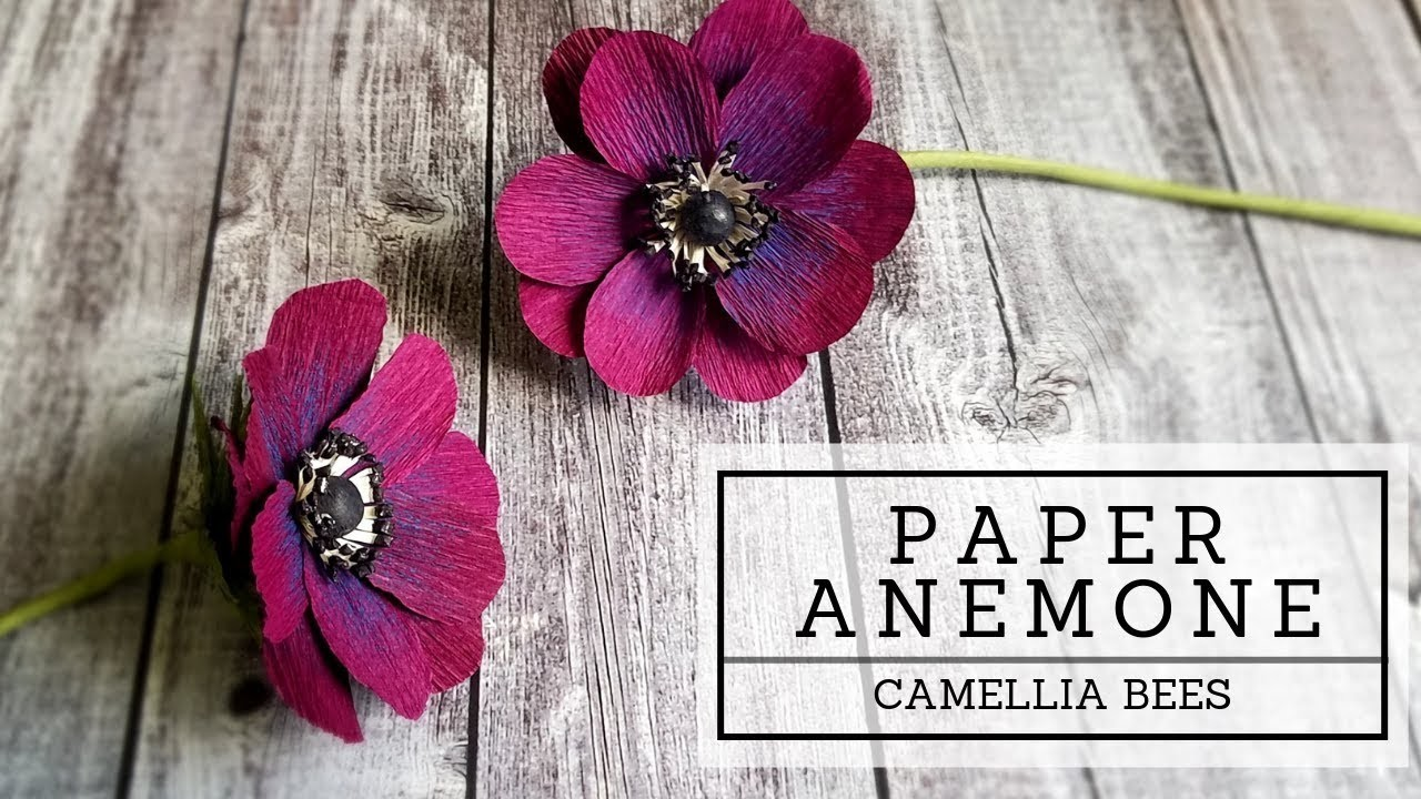 Anemone paper flower DIY  How to make crepe paper flowers