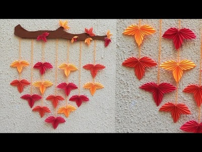 Attractive Paper Wall Hanging | DIY easy paper crafts tutorial - Wall decoration ideas