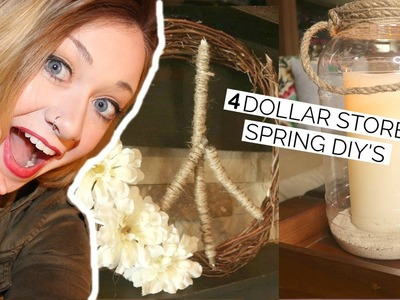 DIY AND DECORATE WITH ME | DOLLAR TREE + RECYCLED GOODS | SPRING HOME DECOR 2019